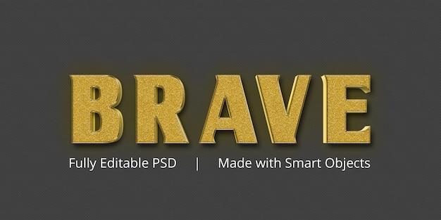 Эффект стиля brave gold text