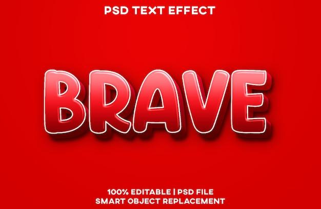 Шаблон стиля смелого текстового эффекта