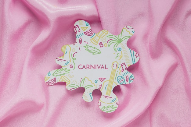 Brazilian carnival cut-out on fabric