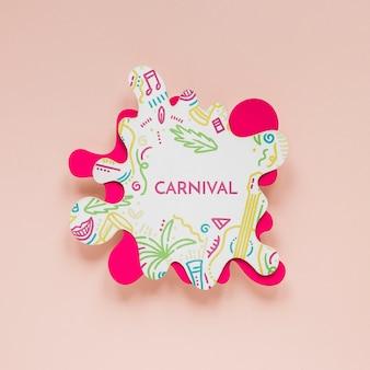 Brazilian carnival cut-out