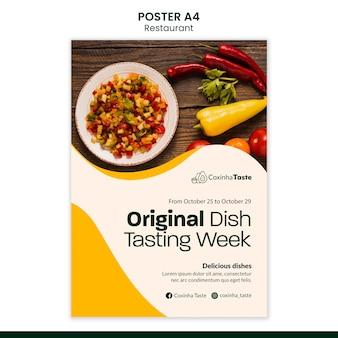 Brazilian food poster template