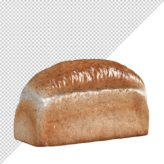 Хлеб выпечка изолировать 3d реалистичный