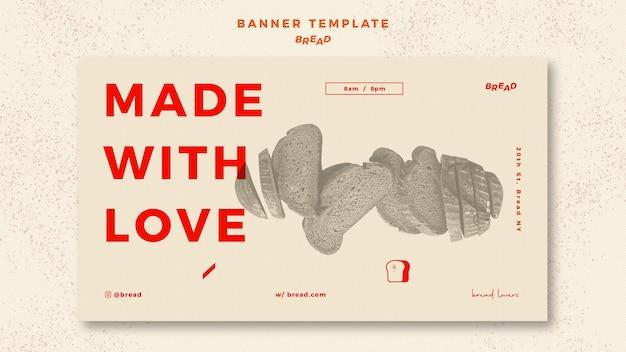 Bread banner template theme