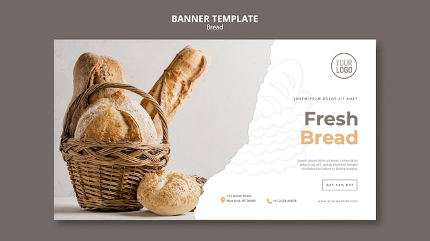 Bread banner template theme