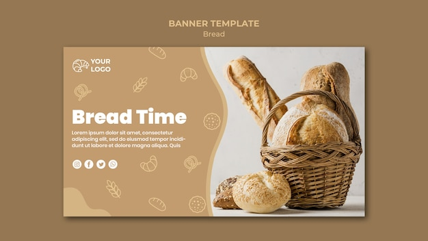 Шаблон баннера хлеба
