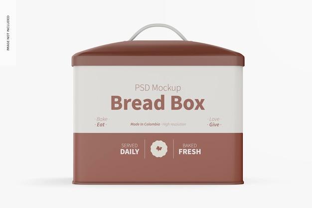 Mockup di scatola del pane, vista frontale