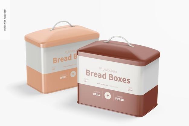 Мокап хлебных коробок