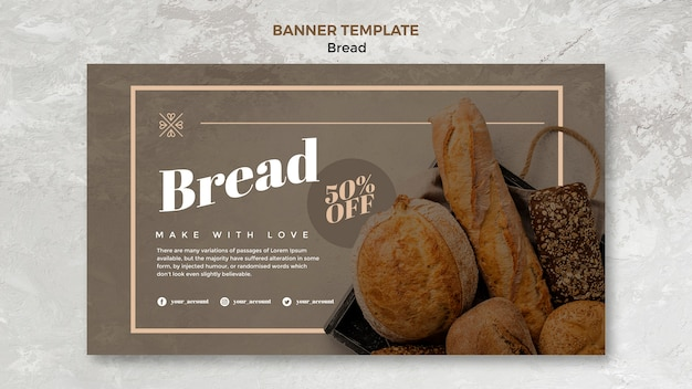 Bread business banner template