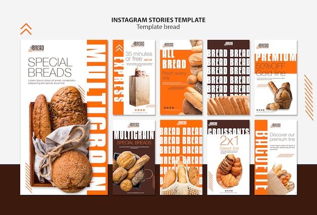 Bread business instagram stories