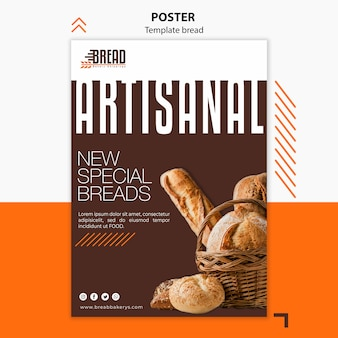 Bread business poster design