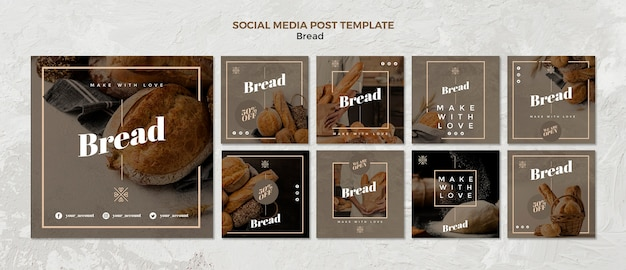 Bread business social media post