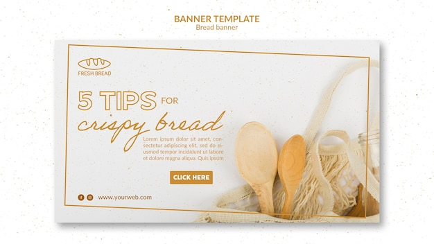 Bread concept banner template