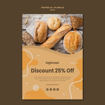 Bread concept flyer template