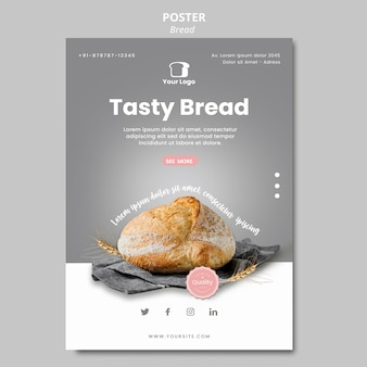 Bread concept poster template