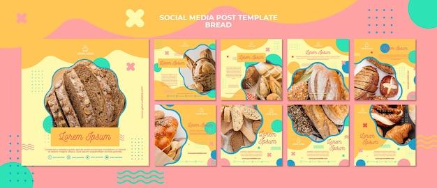 게시물 개념 빵 개념 소셜 미디어