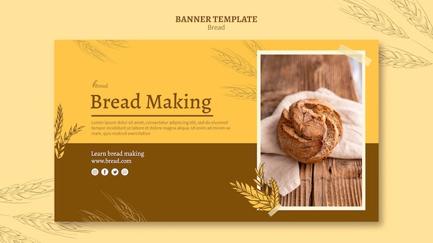 Bread making banner template Free Psd