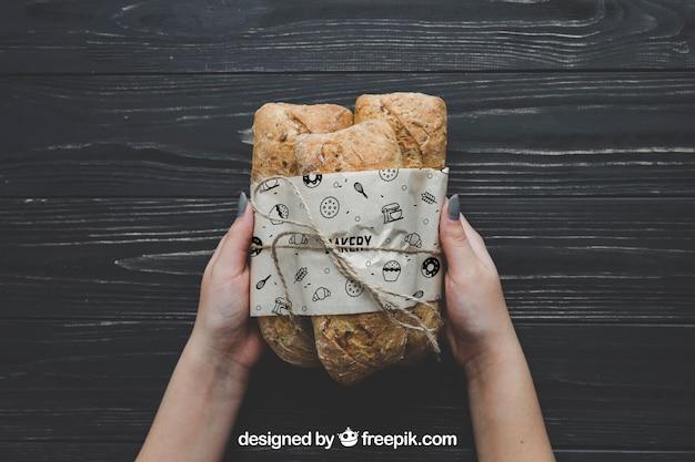 Bread mockup