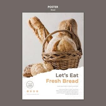 Концепция шаблона плаката хлеба