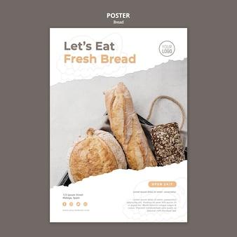 Modello di poster di pane