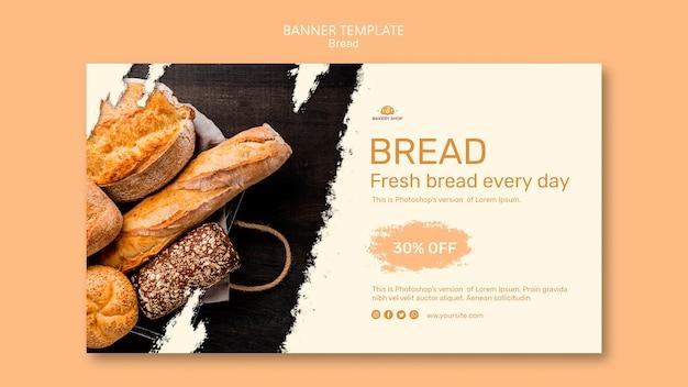 Modello della bandiera del negozio di pane