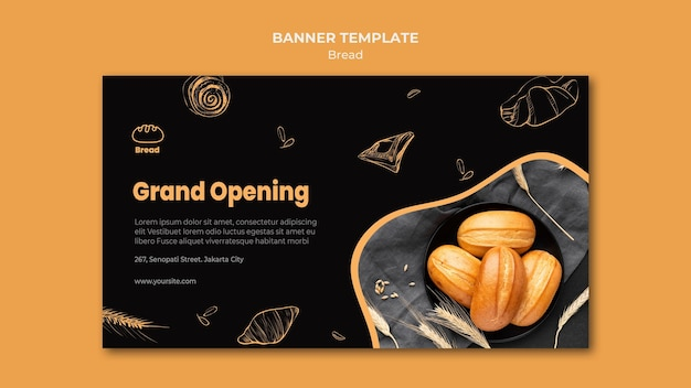 Bread store banner template