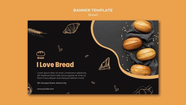 Modello di banner del negozio di pane