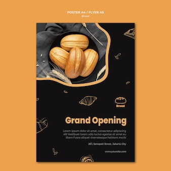 Bread store flyer template