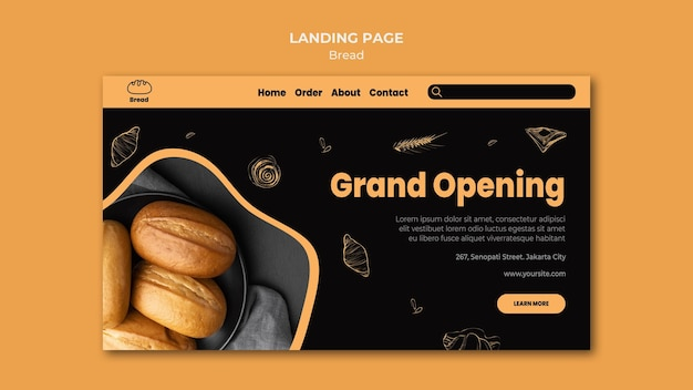 Bread store landing page template