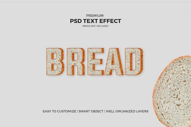 Текстовый эффект хлеба