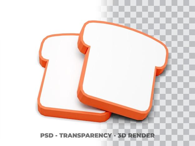 빵 투명도 3d 렌더링