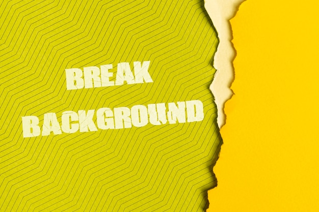 Break background message on cardboard