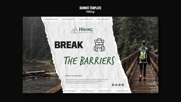 Break the barriers hiking template