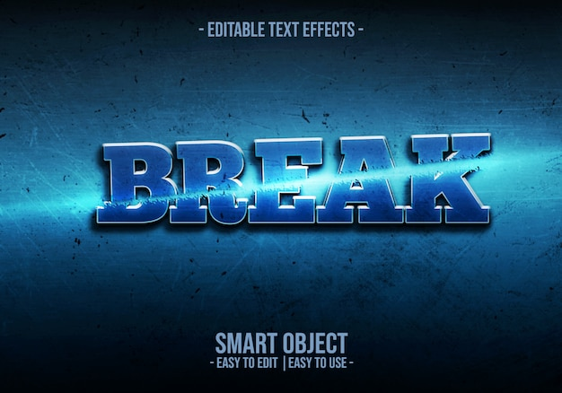 Break text style effect