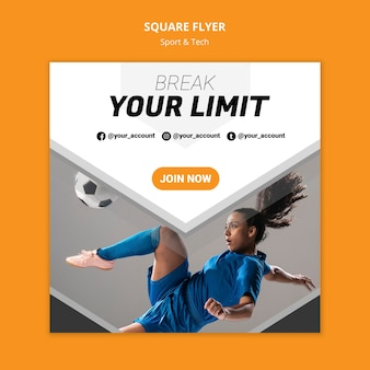 Break your limit workout square flyer