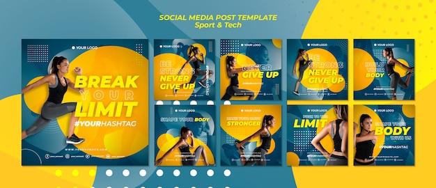 Break your limits sport social media post