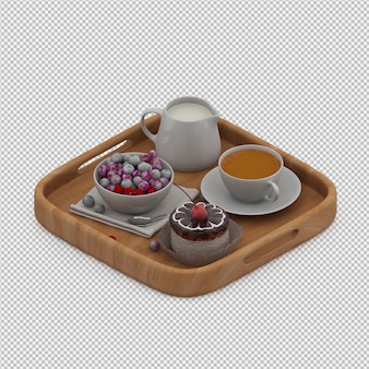 Breakfast 3d render