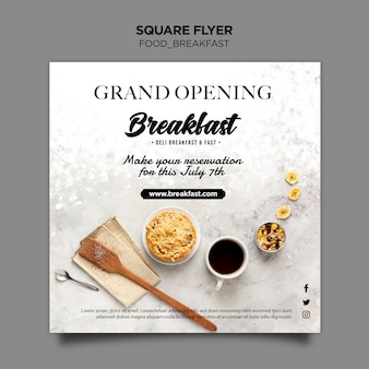 Breakfast concept flyer template