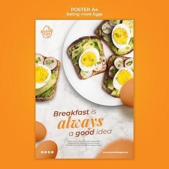Breakfast is always good poster template
