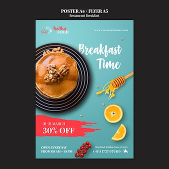 Breakfast restaurant  flyer template