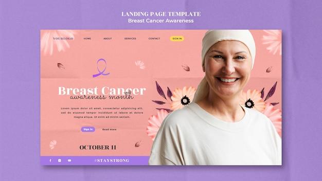 乳がん啓発ランディングページデザインテンプレート
