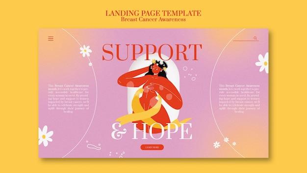 유방암 인식 방문 페이지 템플릿