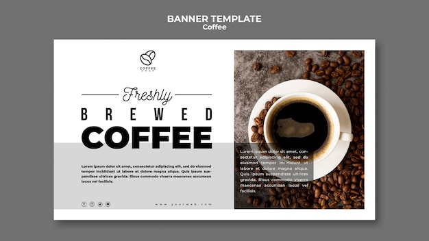 Brewed coffee banner template