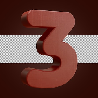 レンガのリアルな3dレンダリング番号