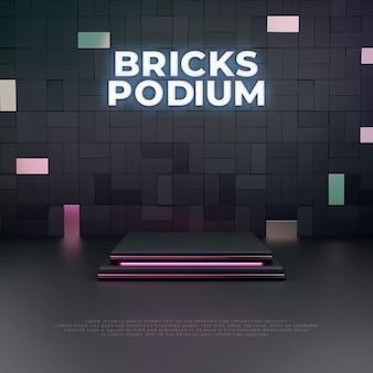 Bricks 3dpodium製品ディスプレイ