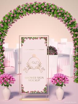 Bridal shower mockup