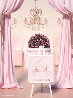 Мокапы свадебного душа
