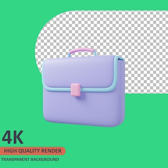 Briefcase 3d business icon illustration high quality render