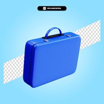 Портфель 3d визуализации изолированных иллюстрация