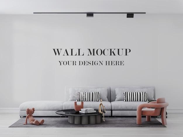 Яркий и расслабляющий макет стены гостиной