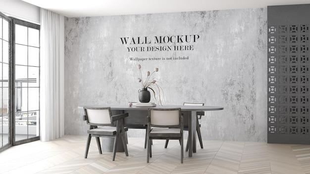 Макет стены в светлой гостиной